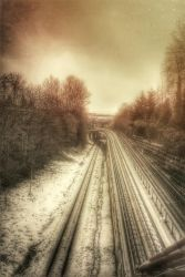 Snow on the tracks.......got the travel bug! by rustymermaid