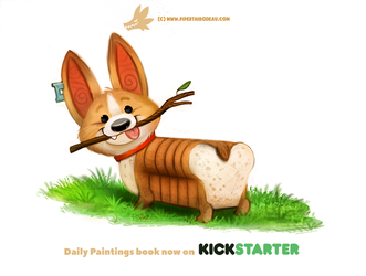 Daily Paint 1311. Pure Bread by Cryptid-Creations