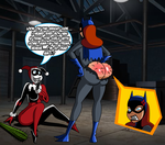 Commission: Harley and Batgirl: Cactus Incident by grimphantom