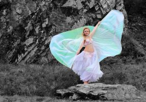Selective Colour Wings by lucyparryphotography