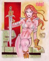RED SONJA by RODEL MARTIN (06172013) by rodelsm21