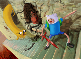 finn and jake by pondis-dant