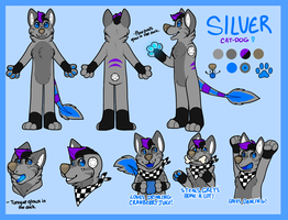 Silver Fursuit Reference by catdoq