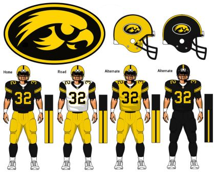 Iowa Hawkeyes uniform concept by TheGreatKtulu