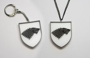 Game of Thrones Stark Keychain and a Pendant by Zamataj