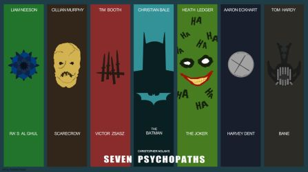 The Dark Knight - 7 Psychopaths by AndrewKwan