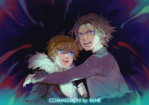 Burriel and Cody by Rene-Elric