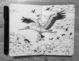 MOLESKINE DOODLES: Off To School by kerbyrosanes