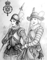 Aino and Ingeborg of Skandinaviskunionen by Gambargin