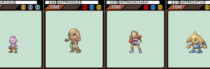 Tyrogue, Hitmonlee, Hitmonchan and Hitmontop