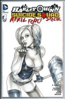 Harley Quinn Sketch Cover by HM1ART by HM1art