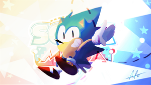 Sonic the Classic Hedgehog by Lallelol