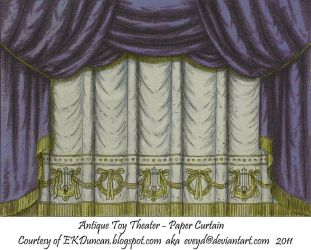 Midnight Toy Theater Curtain 1 by EveyD