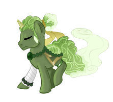 Matcha Monk Tea Pondpony by Grump-Support