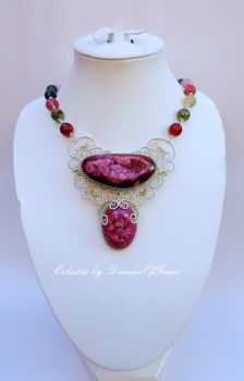 Love is a State of Mind - Statement Necklace by DreamsOfGems