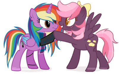 High Five! - Base MLP Oc (Collab With Floofyhoof) by Sparkie45