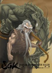 SHAOLIN GRANDMASTER KILLER #1 cover front by the-real-ronin-X