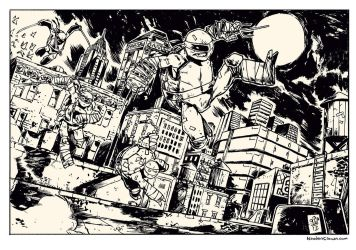 TMNT roof-jumping by TheWoodenKing