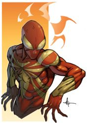 Iron Spidey commission by Alex0wens