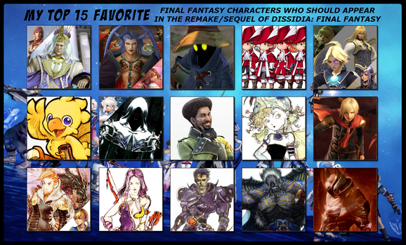 My Top 15 Fav Requests For Dissidia Remake/Sequel by 4xEyes1987
