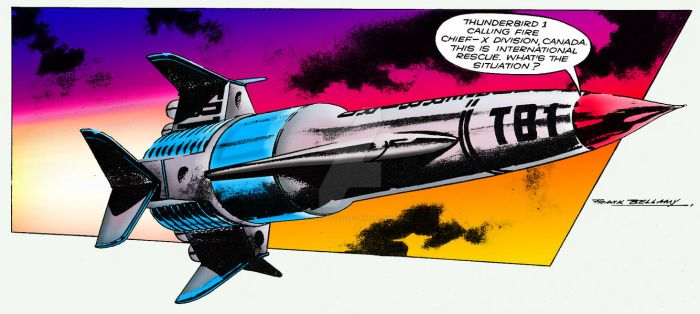 Thunderbird 1 by Frank Bellamy   Colourised by Cotterill23