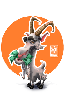 Goat by Lucky-Accident
