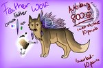 .:Feathered Wolf Auction-CLOSED:. by DarkWolfArtist