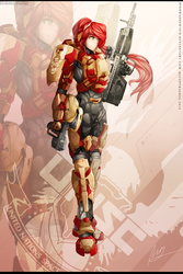 RWBY- Pyrrha Nikos - SPARTAN armour by dishwasher1910