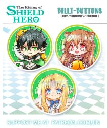 The rising of the shield Hero Button set by jinyjin