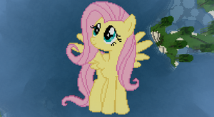 Fluttershy Minecraft Pixel Art by ante8787
