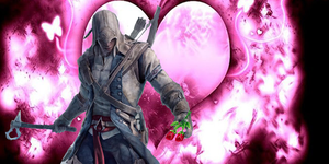 Connor Kenway With Heart Bg by kari5