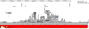 Fuji-class Guided Missile Cruiser (1999) by ijnfleetadmiral