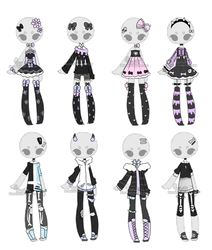 +Outfit Adoptable Mix 21 [CLOSED]  + by Hunibi