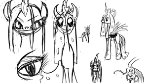 Some Chrysalis sketchies by LimeyLassen