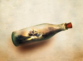 ship in bottle by magicshadow