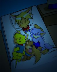 Sleeping with Pups by Coshi-Dragonite