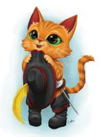 Puss in boots is begging you by leamatte