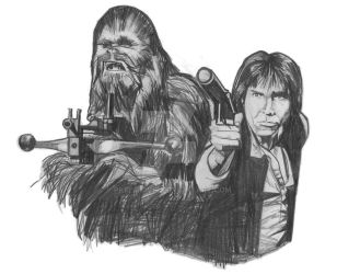 Han Solo and Chewbacca by pkristovic