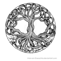 Tree of Life - Inking by Inion-an-tSneachta