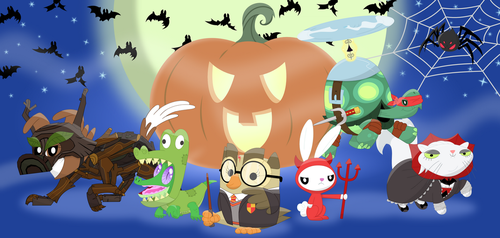 A Pet-tastic Halloween by Porygon2z