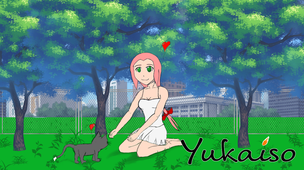 Yuna with Cat ?? One of my first work with CSP... by Yukaiso