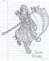 [Sketch] Grim Reaper (Lost Saga) (Lined) by LessHoly