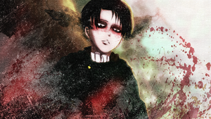 Levi Ackerman- Splatter Wallpaper by Pearlonthesea