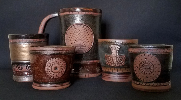 Assorted drinking vessels by sampoart