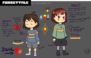 Forget!Tale Frisk and Chara Design Refrence by SuperBecky