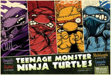 Teenage Monster Ninja Turtles TMNT poster by CatByrne