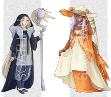 :CLOSED: Lunar + Solar Witches by SgathanAdopts