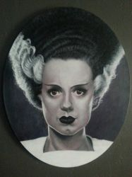 Bride of Frankenstein  by timscottart