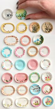Miniature Painting - Plates 1 by thinkpastel