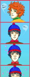 'A tint of romance' - Stan/Kyle from South Park by LoonyFred